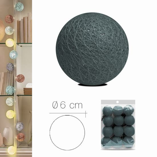 LUZI FABRIC BALL 6 cm GREY