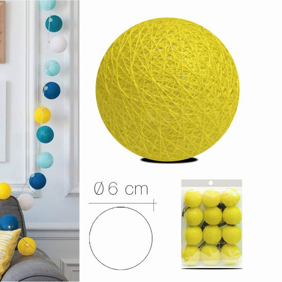 LUZI FABRIC BALL 6 cm  YELLOW