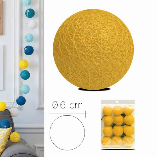 LUZI FABRIC BALL 6 cm  YELLOW MUSTARD