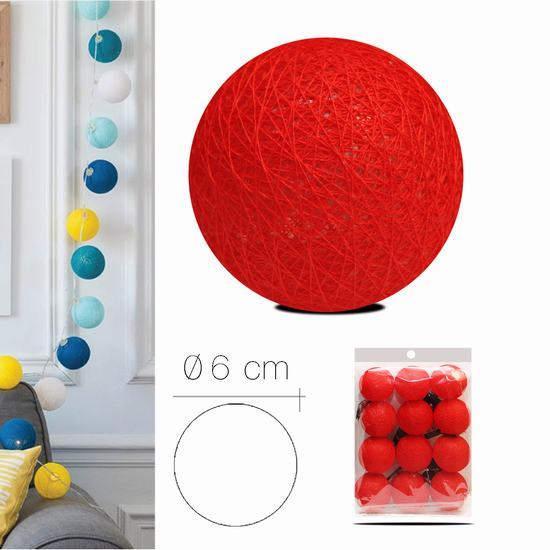 LUZI FABRIC BALL 6 cm  RED