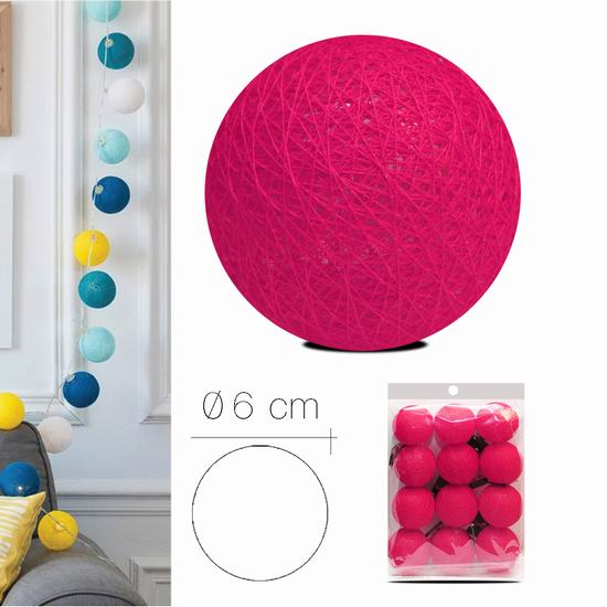 LUZI FABRIC BALL 6 cm  FUSHIA