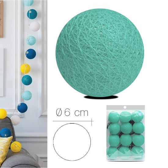LUZI FABRIC BALL 6 cm BLUE GREEN