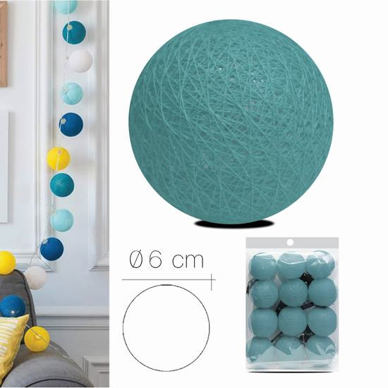 LUZI FABRIC BALL 6 cm AZUR