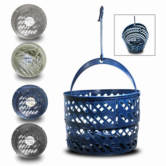 BASKET WITH 24 PLASTIC PEGS