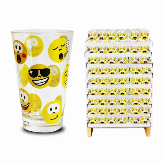 VASO DECORADO NADIA - EMOTICONOS X 1  31cl