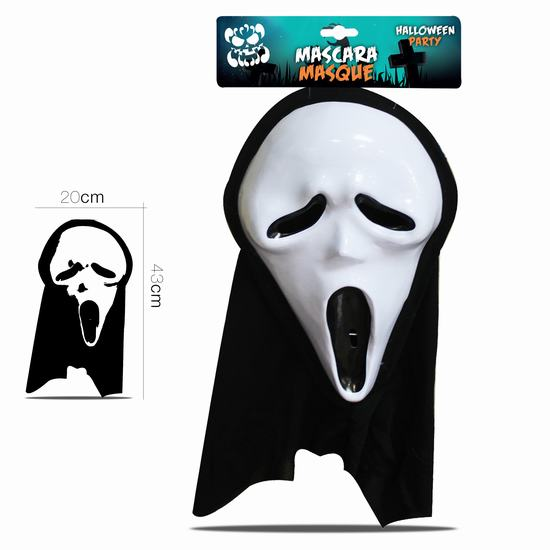 MASQUE SCREAM AVEC CAPUCHE HALLOWEEN