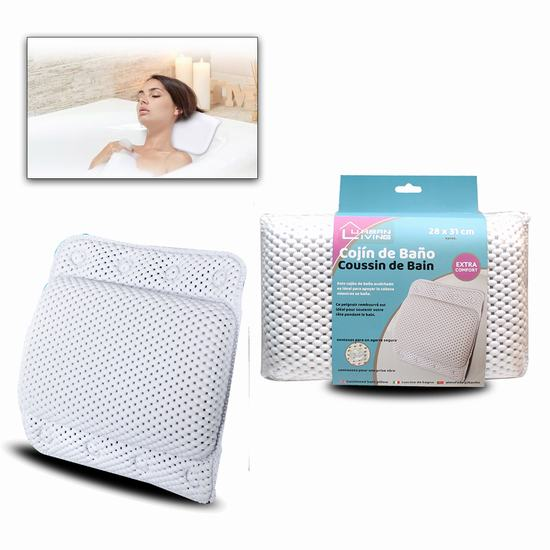 CUSHIONED BATH PILLOW 28 x 31cm